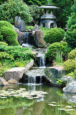 The Japanese Garden Print by Bill Cannon
