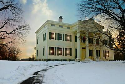 Chief Justice Photograph - The Jay House Circa 1836 by Diana Angstadt