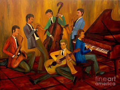 Nashville Painting - The Jazz Company by Larry Martin