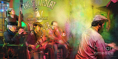 Viper Mixed Media - The Jazz Vipers In New Orleans 03 by Miki De Goodaboom