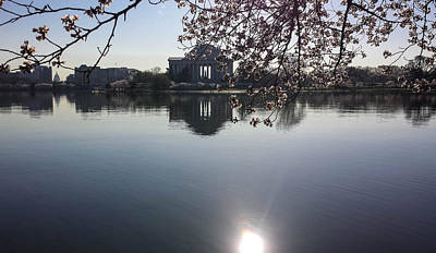 Washingtondc Photograph - The Jefferson Memorial And The Us Capitol Through The Cherry Blossoms by Debra Bowers