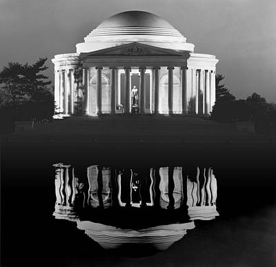 Washington D.c Digital Art - The Jefferson Memorial by Daniel Hagerman