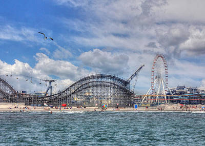 Coaster Photograph - The Jersey Shore by Lori Deiter