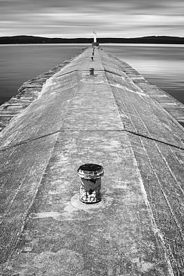 B And W Photograph - The Jetty by Adam Romanowicz