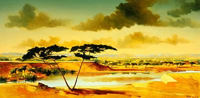 African Landscape Painting - The Jewel Of Hlubluwe by Andrew Hewkin