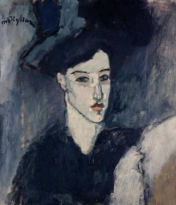 Elongated Painting - The Jewess by Amedeo Modigliani