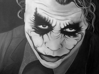 Heath Ledger Painting - The Joker by Amanda DeVillers