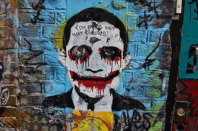 Heath Ledger Photograph - The Joker by Blaise Pellegrin