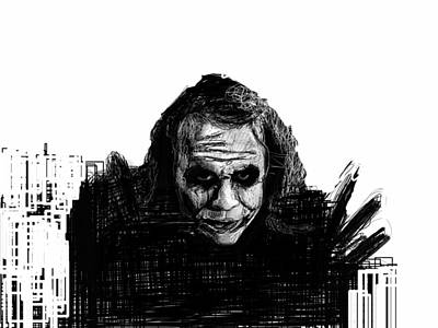 Heath Ledger Digital Art - The Joker by Harold Belarmino