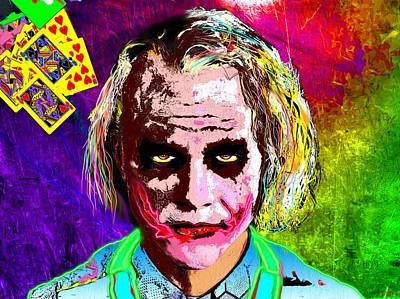 Heath Ledger Painting - The Joker - Heath Ledger by Daniel Janda
