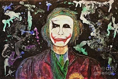 Heath Ledger Painting - The Joker by James Pizzimenti