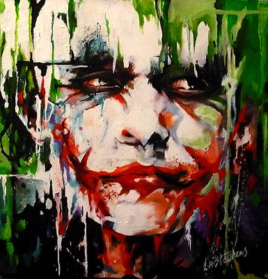Heath Ledger Painting - The Joker by Lorna Stephens