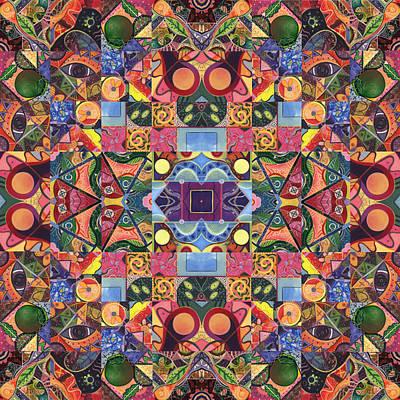 Atom Mixed Media - The Joy Of Design Mandala Series Puzzle 2 Arrangement 9 by Helena Tiainen