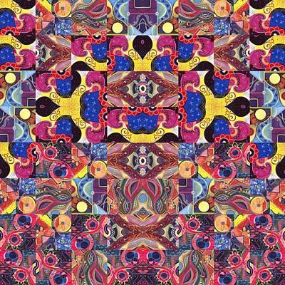 The Joy Of Design Mandala Series Puzzle 3 Arrangement 6 Print by Helena Tiainen