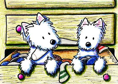 Dog Painting - The Joy Of Socks by Kim Niles