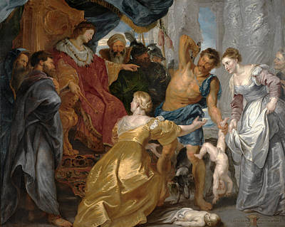 Solomon Painting - The Judgement Of Solomon by Peter Paul Rubens