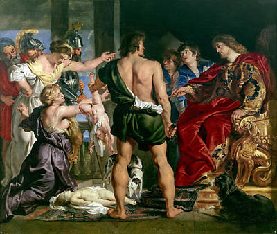 Solomon Painting - The Judgement Of Solomon by Workshop of Rubens