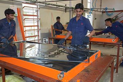 The Kamal Factory In Bangalore Print by Ashley Cooper