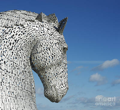 The Kelpies Print by Tim Gainey