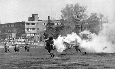 Ohio Photograph - The Kent State Massacre by Underwood Archives
