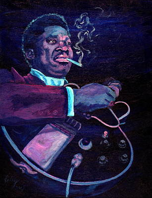 B B King Drawing - The King by Kathleen Kelly Thompson