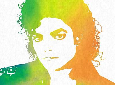 The King Of Pop Art Print by Dan Sproul