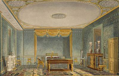 Desk Drawing - The Kings Bedroom, From Views by English School