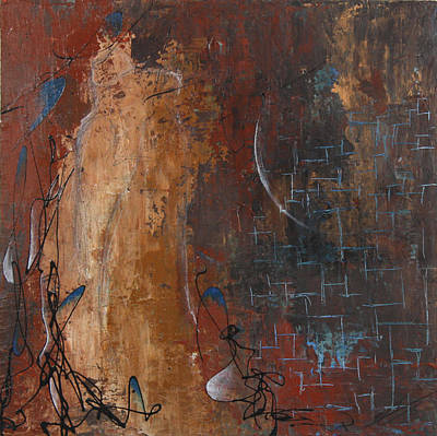 Abstract Painting - The Kiss by Bradley Carter