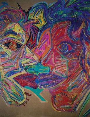 The Kiss Print by Mike Manzi