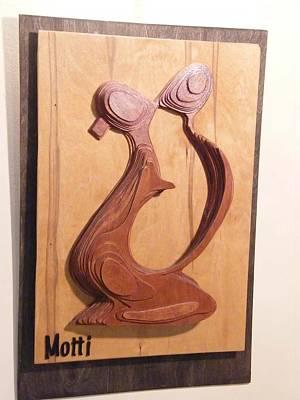 Wall Mounting Sculpture - The Kiss by Motti Inbar