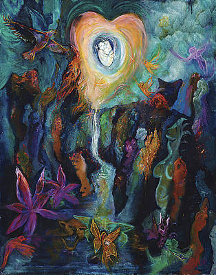 Near Death Experience Painting - The Kiss / The Agreement by Shari Silvey