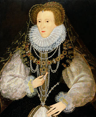 Regalia Painting - The Kitchener Portrait Of Queen by English School