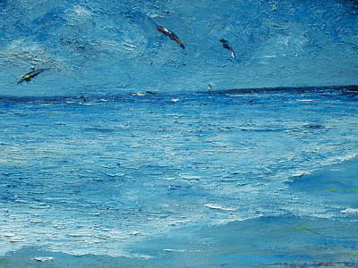 Wind Surfing Painting - The Kite Surfers by Conor Murphy