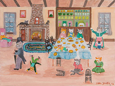 The Kittletons No School Today Print by Sam Yonts