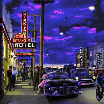 The Kl Hotel Print by Mark Didine