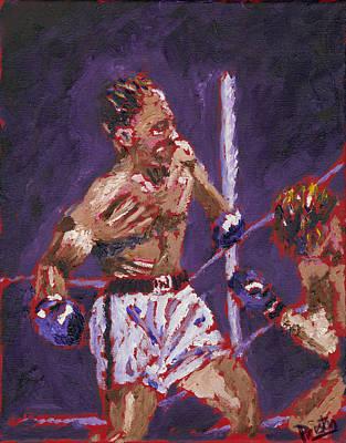 Muhammad Ali Art Painting - The Knockout by Preston Sandlin