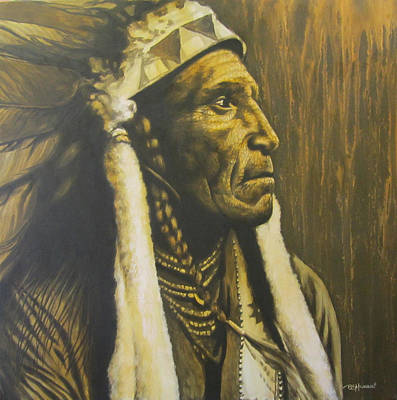 First Tribes Painting - The Knowing by Bruce McLachlan