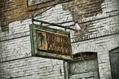 7up Sign Photograph - The Ladies Entrance by Trish Tritz