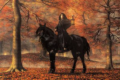 Wiccan Digital Art - The Lady Of Halloween by Daniel Eskridge