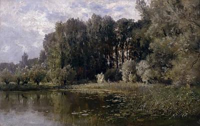 The Lake In Nijmegen Print by Carlos de Haes