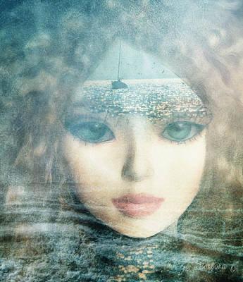 The Lake Muse Print by Barbara Orenya