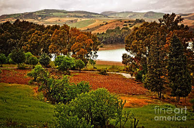 Camping Digital Art - The Lakes Of Ardales Spain by Mary Machare