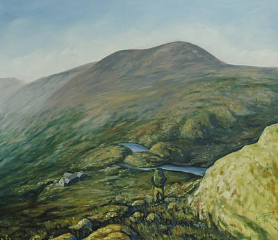 Backpacking Painting - The Lakes Of The Clouds by Erik Schutzman
