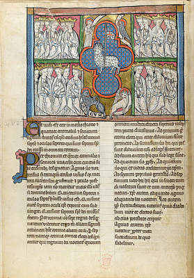 New Testament Photograph - The Lamb Is Adored By The Elders by British Library