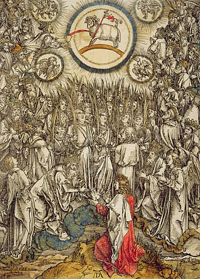 Miraculous Drawing - The Lamb Of God Appears On Mount Sion, 1498  by Albrecht Durer or Duerer