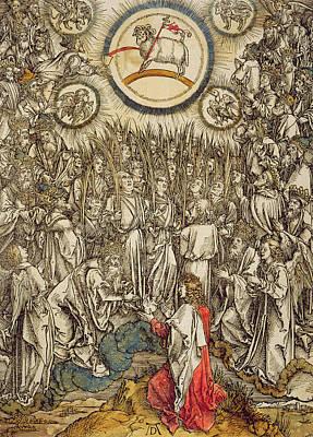 Revelation Drawing - The Lamb Of God Appears On Mount Sion, 1498  by Albrecht Durer or Duerer