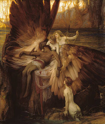 Greek Mythology Painting - The Lament For Icarus by Herbert James Draper