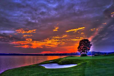 The Landing Golf Sunset On Lake Oconee  Print by Reid Callaway