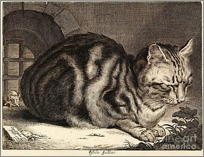 The Large Cat  Print by Cornelis de Visscher