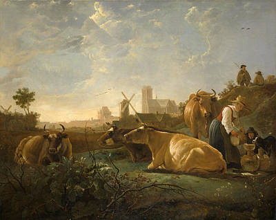 Aelbert Cuyp Painting - The Large Dort by Aelbert Cuyp